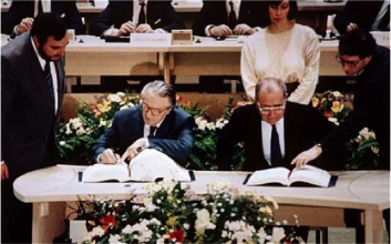 The signing of the Treaty of Maastricht – February 1992