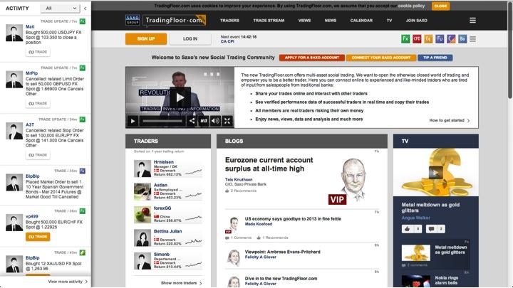 tradingfloor social tradinf platform