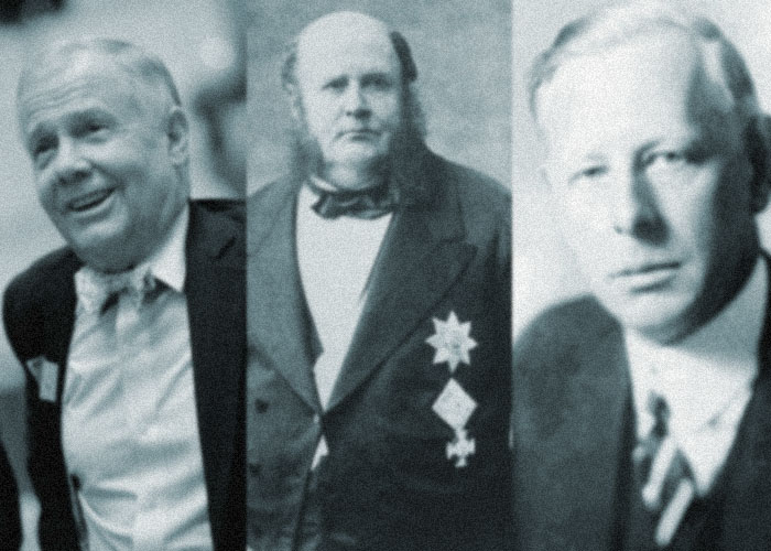 (left to right) Jim Rogers, Meyer Rothschild, Jesse Livermore