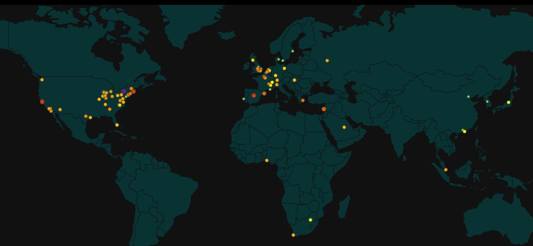World digital map Tradersdna