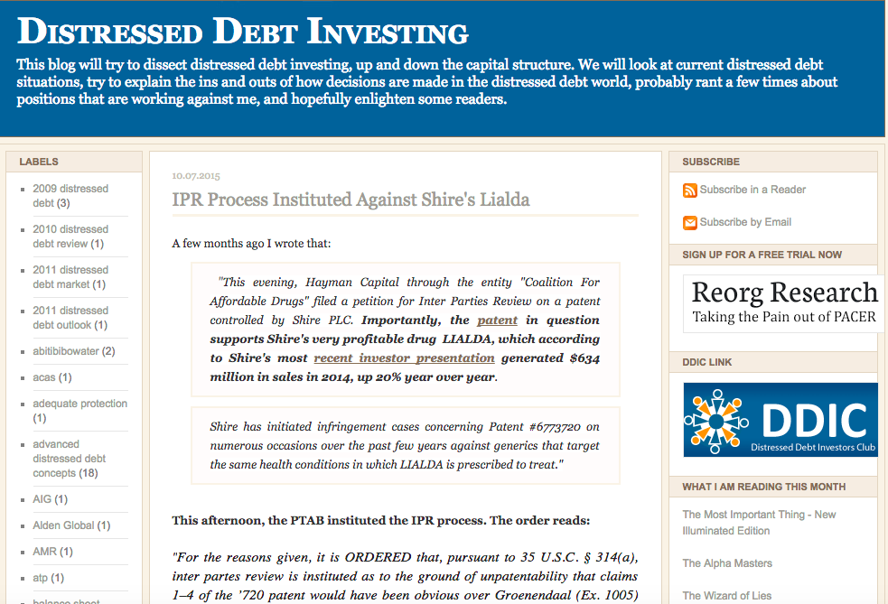 Distressed Debt Investing