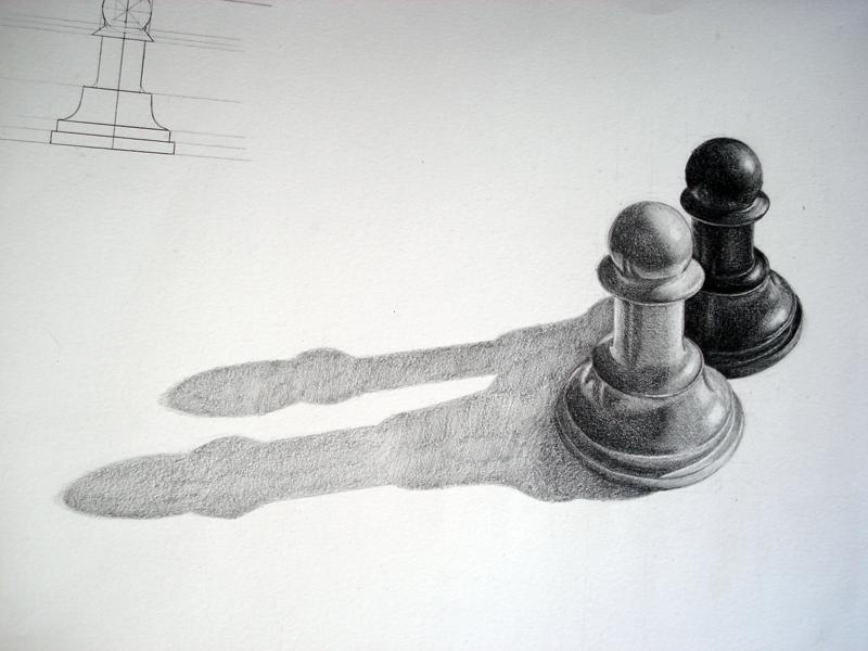 """More of the same, does not change the game."" José Ricaurte Jaén - Senior Associate Editor Artist: Boriana D. - Pencil/Chess Pawn"