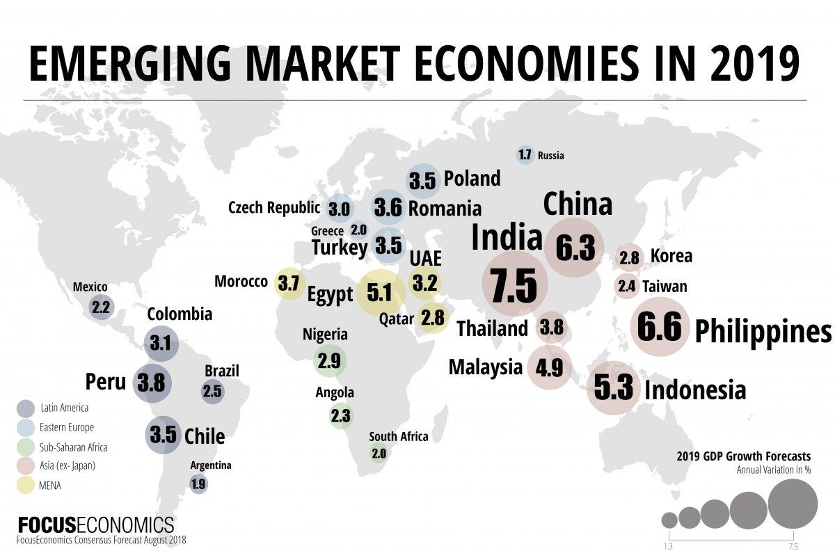 Emerging Market Economies in 2019