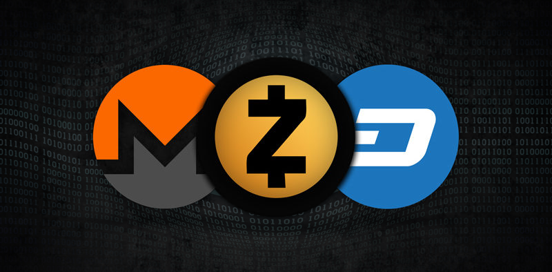 The Big Three Privacy Coins: Monero, Dash and Zcash